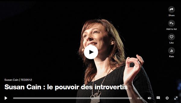 Vidéo SusanCain au TedX