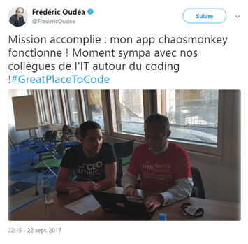 Influenceur : Tweet Oudéa, DG SG
