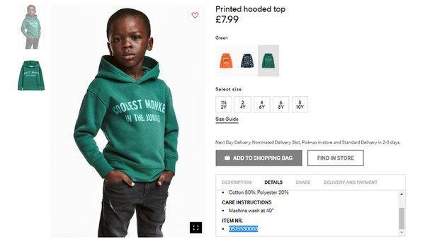 H&M - Pub raciste